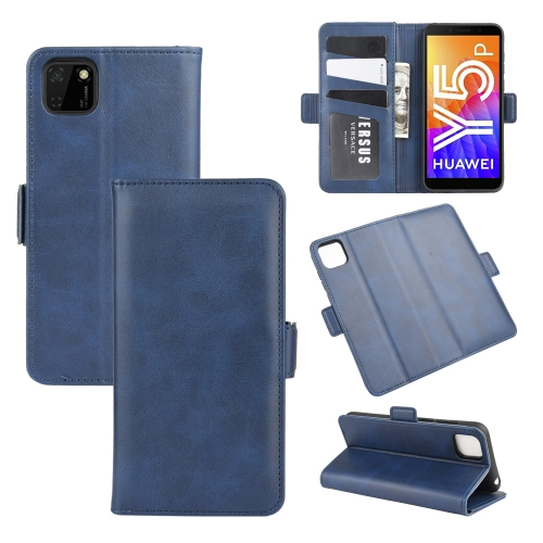 For Huawei Y5p/Honor 9S   Dual-side Magnetic Buckle Horizontal Flip Leather Case with Holder & Card Slots & Wallet(Dark Blue)