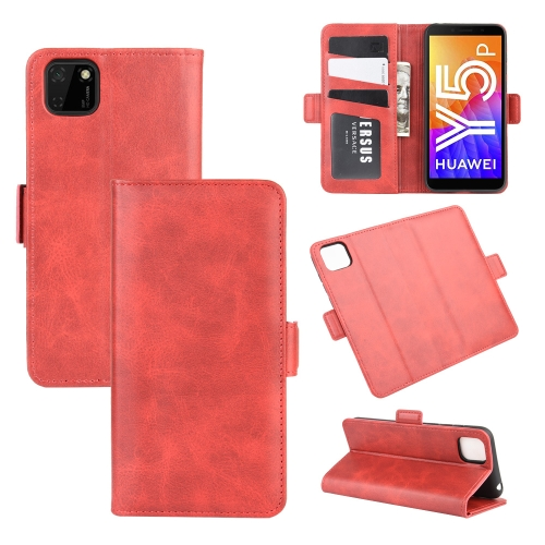 For Huawei Y5p/Honor 9S   Dual-side Magnetic Buckle Horizontal Flip Leather Case with Holder & Card Slots & Wallet(Red)