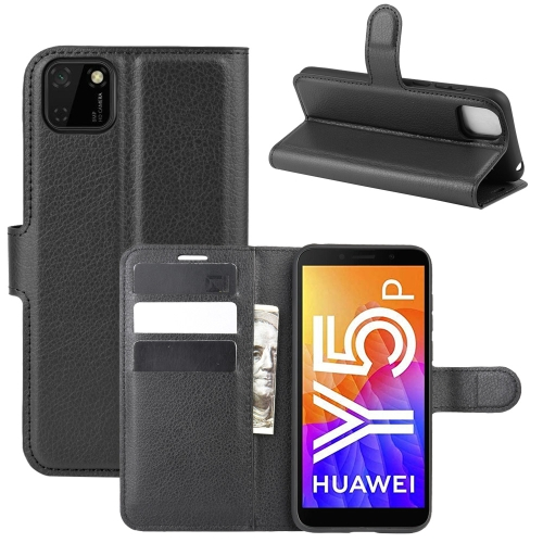 For Huawei Y5p/Honor 9S   Litchi Texture Horizontal Flip Protective Case with Holder & Card Slots & Wallet(Black)