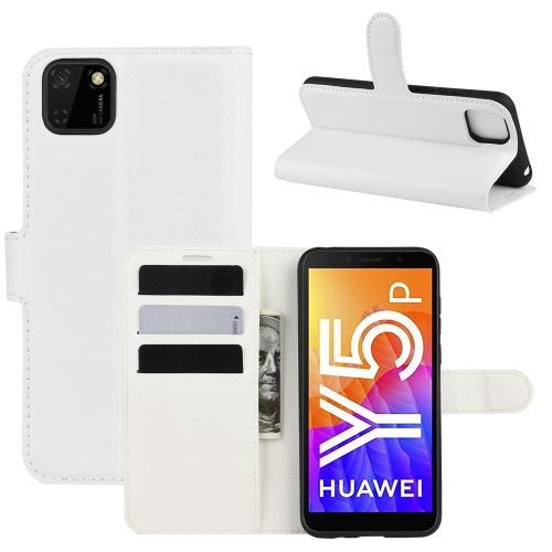 For Huawei Y5p/Honor 9S   Litchi Texture Horizontal Flip Protective Case with Holder & Card Slots & Wallet(White)