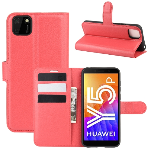 For Huawei Y5p/Honor 9S   Litchi Texture Horizontal Flip Protective Case with Holder & Card Slots & Wallet(Red)
