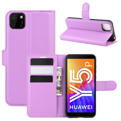 For Huawei Y5p/Honor 9S   Litchi Texture Horizontal Flip Protective Case with Holder & Card Slots & Wallet(Purple)