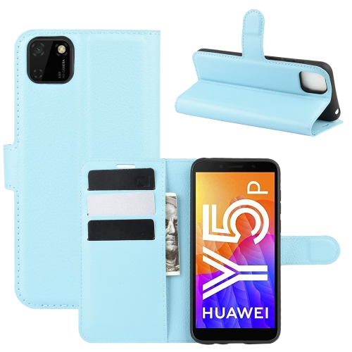 For Huawei Y5p/Honor 9S   Litchi Texture Horizontal Flip Protective Case with Holder & Card Slots & Wallet(Blue)