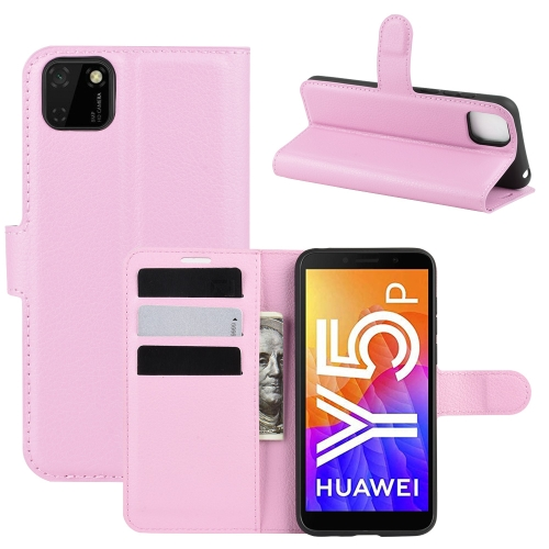 For Huawei Y5p/Honor 9S   Litchi Texture Horizontal Flip Protective Case with Holder & Card Slots & Wallet(Pink)
