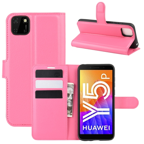 For Huawei Y5p/Honor 9S   Litchi Texture Horizontal Flip Protective Case with Holder & Card Slots & Wallet(Rose red)