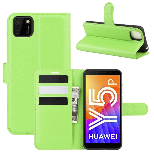 For Huawei Y5p/Honor 9S   Litchi Texture Horizontal Flip Protective Case with Holder & Card Slots & Wallet(Green)