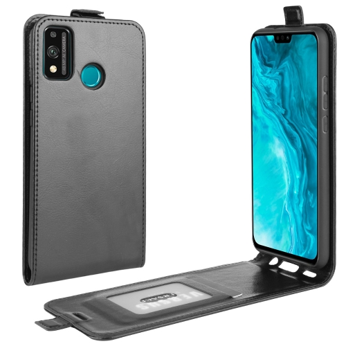 For Huawei Honor 9X lite   R64 Texture Single Vertical Flip Leather Protective Case with Card Slots & Photo Frame(Black)