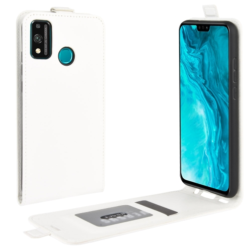 For Huawei Honor 9X lite   R64 Texture Single Vertical Flip Leather Protective Case with Card Slots & Photo Frame(White)