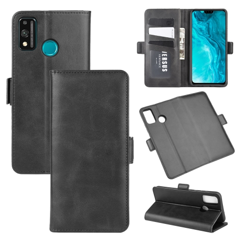 For Honor 9X lite   Dual-side Magnetic Buckle Horizontal Flip Leather Case with Holder & Card Slots & Wallet(Black)