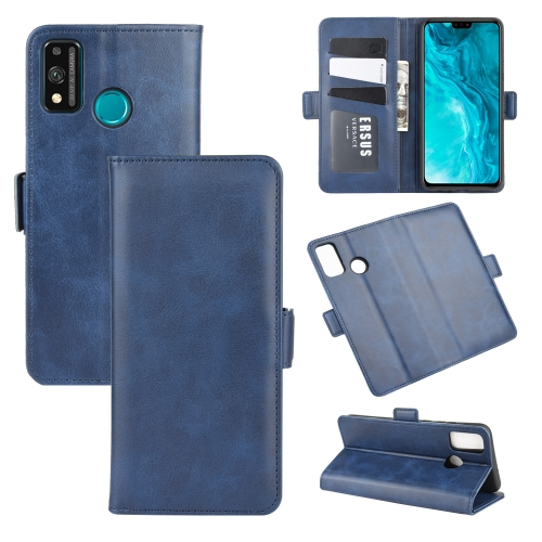 For Honor 9X lite   Dual-side Magnetic Buckle Horizontal Flip Leather Case with Holder & Card Slots & Wallet(Dark Blue)