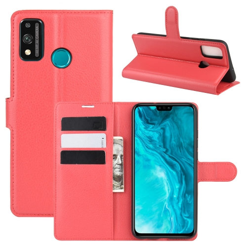 For Honor 9X lite   Litchi Texture Horizontal Flip Protective Case with Holder & Card Slots & Wallet(Red)