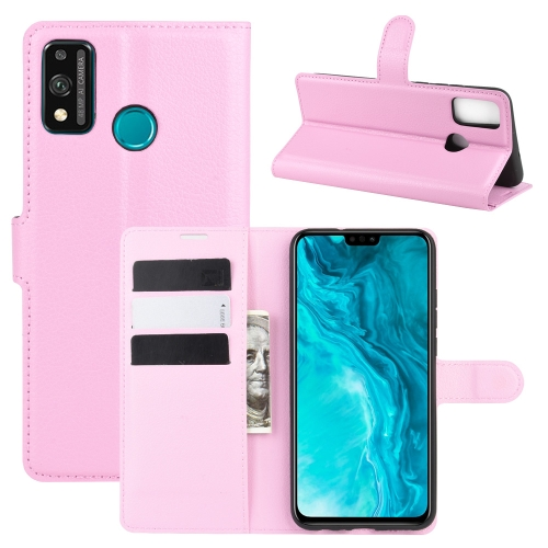 For Honor 9X lite   Litchi Texture Horizontal Flip Protective Case with Holder & Card Slots & Wallet(Pink)