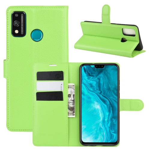 For Honor 9X lite   Litchi Texture Horizontal Flip Protective Case with Holder & Card Slots & Wallet(Green)