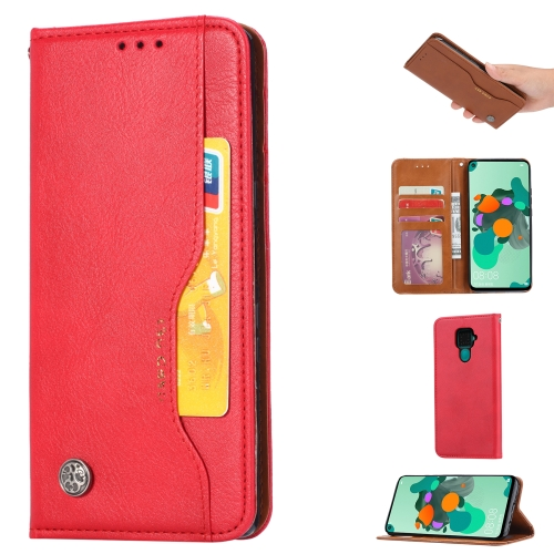 For Xiaomi Redmi Note 9/Redmi 10X   Knead Skin Texture Horizontal Flip Leather Case , with Photo Frame & Holder & Card Slots & Wallet(Red)
