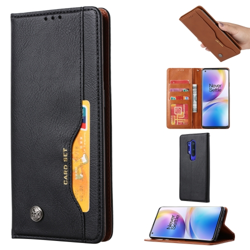 For One PLus 8 Pro   Knead Skin Texture Horizontal Flip Leather Case , with Photo Frame & Holder & Card Slots & Wallet(Black)