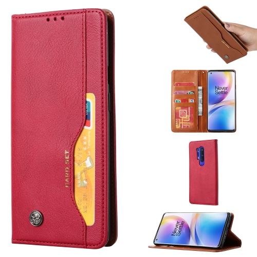 For One PLus 8 Pro   Knead Skin Texture Horizontal Flip Leather Case , with Photo Frame & Holder & Card Slots & Wallet(Red)