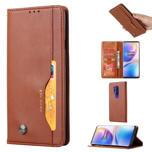 For One PLus 8 Pro   Knead Skin Texture Horizontal Flip Leather Case , with Photo Frame & Holder & Card Slots & Wallet(Brown)