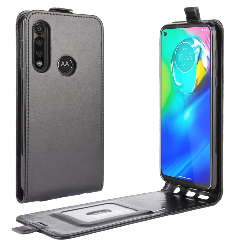 For Motorola Moto G Power   R64 Texture Single Vertical Flip Leather Protective Case with Card Slots & Photo Frame(Black)
