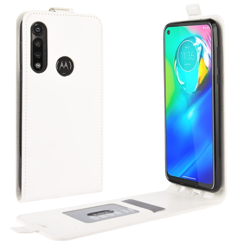 For Motorola Moto G Power   R64 Texture Single Vertical Flip Leather Protective Case with Card Slots & Photo Frame(White)