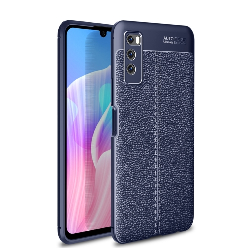 For Huawei Enjoy Z 5G / Enjoy 20 Pro   Litchi Texture TPU Shockproof Case(Navy Blue)