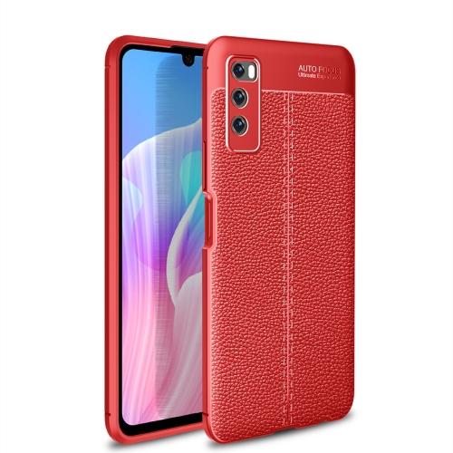 For Huawei Enjoy Z 5G / Enjoy 20 Pro   Litchi Texture TPU Shockproof Case(Red)
