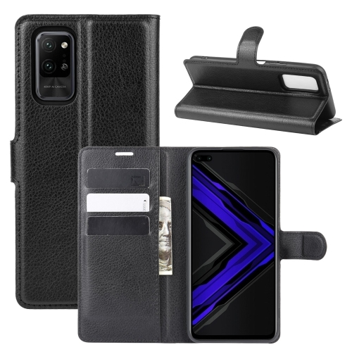 For Honor Play4 Pro/Honor V30   Litchi Texture Horizontal Flip Leather Case with Holder & Card Slots & Wallet(Black)