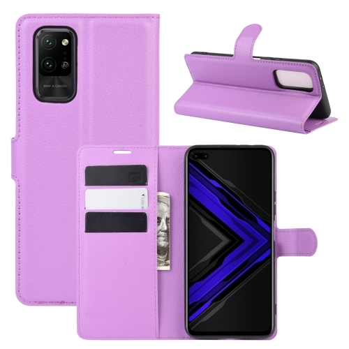 For Honor Play4 Pro/Honor V30   Litchi Texture Horizontal Flip Leather Case with Holder & Card Slots & Wallet(Purple)