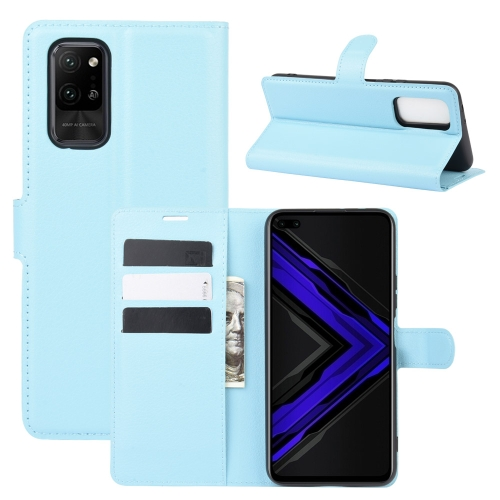 For Honor Play4 Pro/Honor V30   Litchi Texture Horizontal Flip Leather Case with Holder & Card Slots & Wallet(Blue)