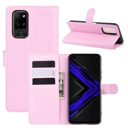For Honor Play4 Pro/Honor V30   Litchi Texture Horizontal Flip Leather Case with Holder & Card Slots & Wallet(Pink)