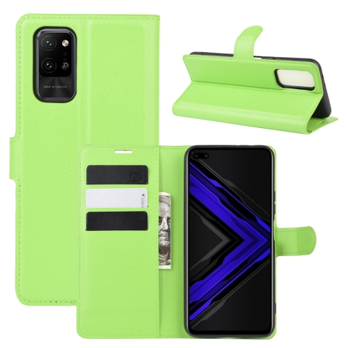 For Honor Play4 Pro/Honor V30   Litchi Texture Horizontal Flip Leather Case with Holder & Card Slots & Wallet(Green)