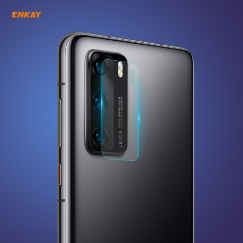 For Huawei P40 Hat-Prince ENKAY 0.2mm 9H 2.15D Round Edge Rear Camera Lens Tempered Glass Film  - buy with discount