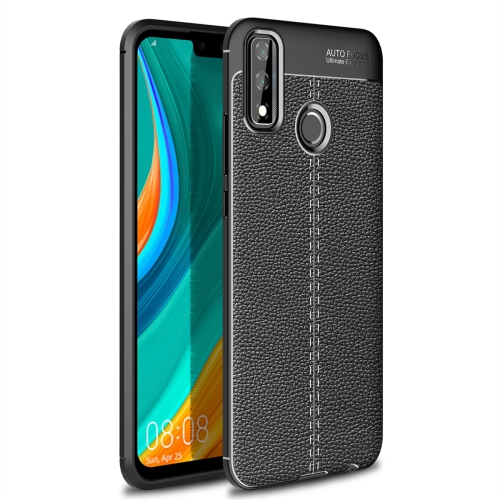 For Huawei Y8s   Litchi Texture TPU Shockproof Case(Black)