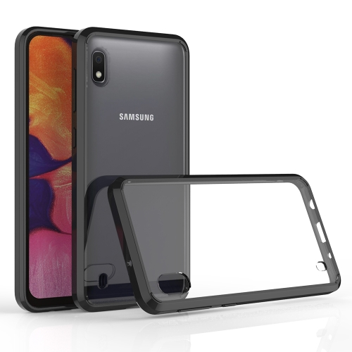 Scratchproof TPU + Acrylic Protective Case for Galaxy A10(Black)