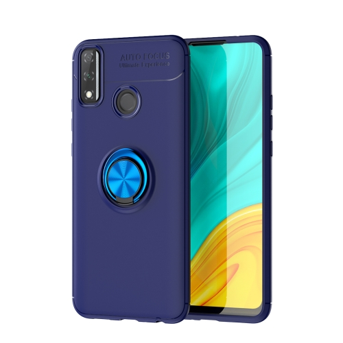 For Huawei Y8S   Metal Ring Holder 360 Degree Rotating TPU Case(Blue+Blue)
