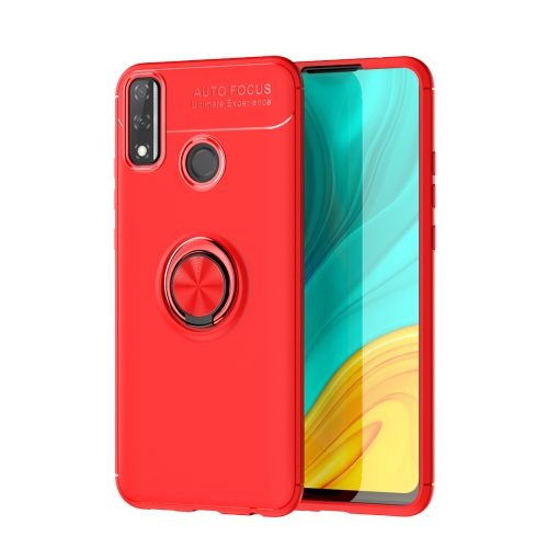 For Huawei Y8S   Metal Ring Holder 360 Degree Rotating TPU Case(Red+Red)