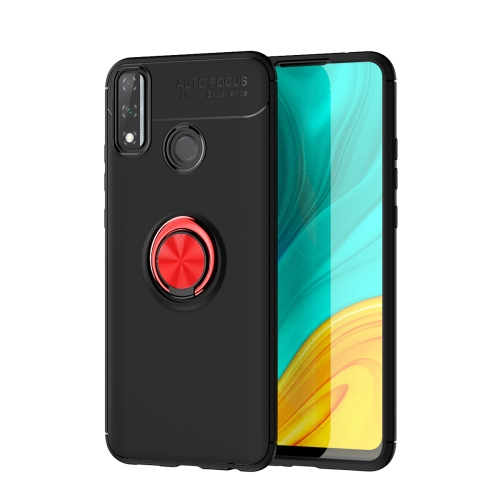 For Huawei Y8S   Metal Ring Holder 360 Degree Rotating TPU Case(Black+Red)
