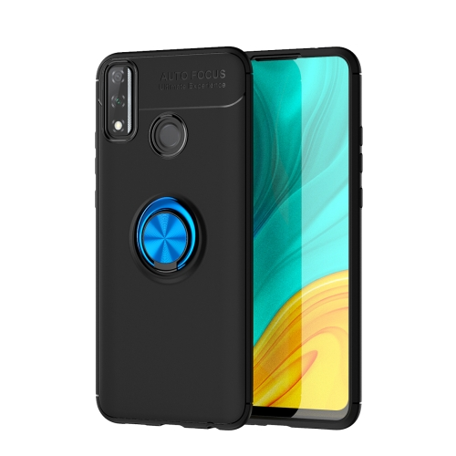 For Huawei Y8S   Metal Ring Holder 360 Degree Rotating TPU Case(Black+Blue)