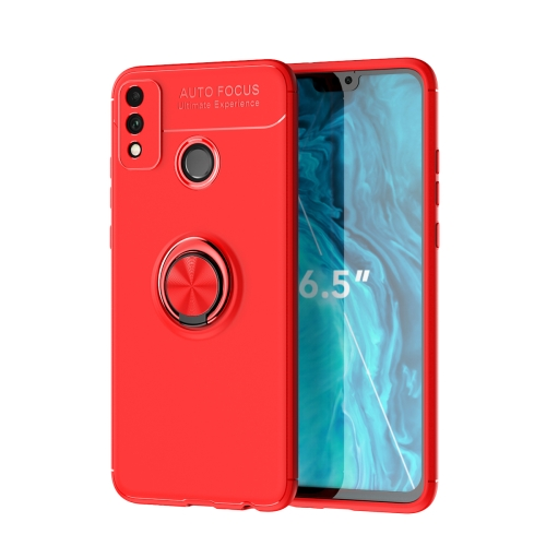 For Honor 9X Lite / Honor 8X   Metal Ring Holder 360 Degree Rotating TPU Case(Red+Red)