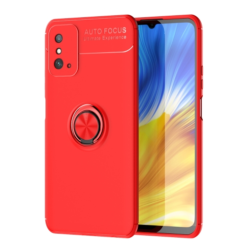 For Honor X10 Max   Metal Ring Holder 360 Degree Rotating TPU Case(Red+Red)