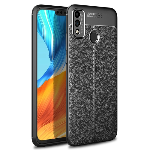 For Honor 9X Lite / Honor 8X   Litchi Texture TPU Shockproof Case(Black)