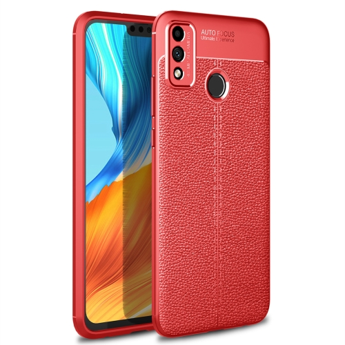 For Honor 9X Lite / Honor 8X   Litchi Texture TPU Shockproof Case(Red)