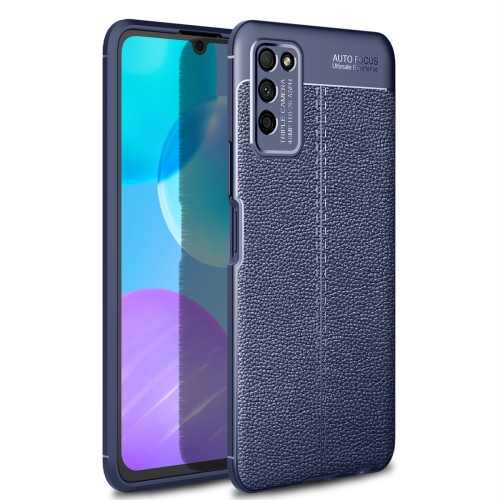 For Honor 30 Lite / 30 Youth   Litchi Texture TPU Shockproof Case(Navy Blue)