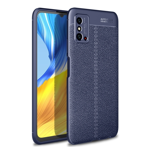 For Honor X10 Max 5G   Litchi Texture TPU Shockproof Case(Navy Blue)