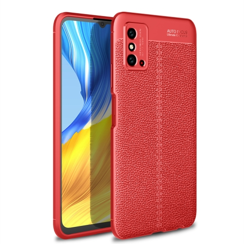 For Honor X10 Max 5G   Litchi Texture TPU Shockproof Case(Red)
