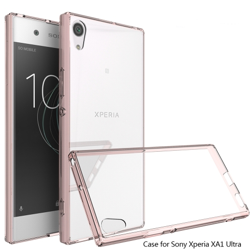 Scratchproof TPU + Acrylic Protective Case for Sony Xperia XA1 Ultra(Pink)