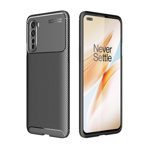 For OnePlus Nord - Carbon Fiber Texture Shockproof TPU Case(Black)