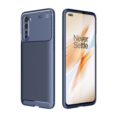For OnePlus Nord - Carbon Fiber Texture Shockproof TPU Case(Blue)