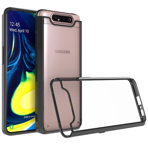 Scratchproof TPU + Acrylic Protective Case for Galaxy A80/A90(Black)