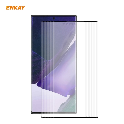 5 PCS For Samsung Galaxy Note 20 Ultra ENKAY Hat-Prince 0.26mm 9H 3D Explosion-proof Full Screen Curved Heat Bending Tempered Glass Film фото