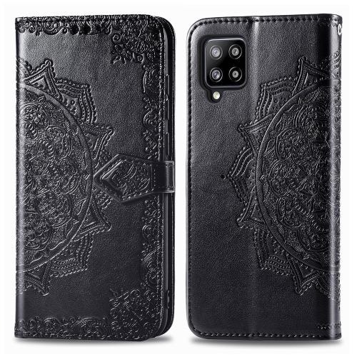 sunsky-online.com - 15% OFF by SUNSKY COUPON CODE: SYA001287001 for For Galaxy A42 5G Mandala Flower Embossed Horizontal Flip Leather Case with Bracket / Card Slot / Wallet / Lanyard(Black)